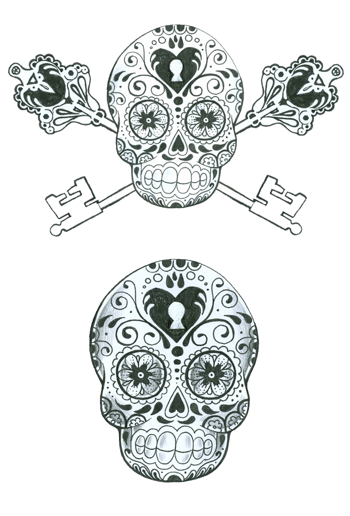 Sugar Skull Tattoo Designs